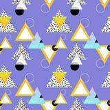 Stampa geometrica senza cuciture con le forme e le linee semplici royalty illustrazione gratis