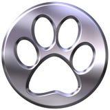 stampa incorniciata d'argento del gatto 3D Fotografia Stock Libera da Diritti
