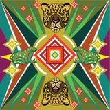 Stampa messicana Jaguar fotografie stock libere da diritti
