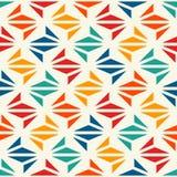 Stampa moderna geometrica Fondo astratto contemporaneo con i triangoli ripetuti Modello senza cuciture con le forme di origami illustrazione vettoriale