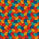 Stampa moderna luminosa con le forme geometriche Motivo del ventaglio Reticolo senza giunte variopinto Mosaico creativo del vetro royalty illustrazione gratis