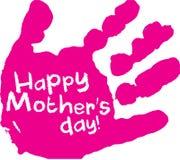 Stampa rosa della mano di giorno del ` s della madre Fotografia Stock