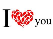 Stampa rossa del cuore Immagine Stock