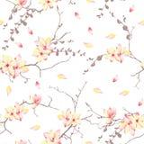 Stampa soleggiata di vettore degli alberi della primavera Fotografie Stock