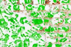 Stampa umana della palma Fotografia Stock