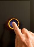 Stampaggio a mano un tasto con il dito indice Fotografia Stock