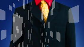 Stampaggio a mano uno di molti bottoni virtuali, fondo blu illustrazione vettoriale