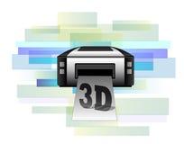 Stampante che fa i prodotti 3d Fotografia Stock