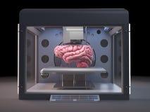 stampante 3d che stampa un cervello Fotografia Stock Libera da Diritti