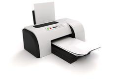 stampante 3d e documenti illustrazione di stock