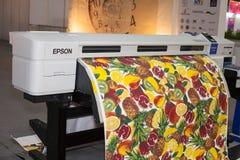 Stampante del tessuto di Digital Fotografia Stock