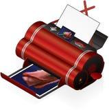 Stampante di getto di inchiostro Immagini Stock