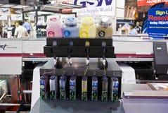 Stampante di getto di inchiostro di Digitahi di ampio formato - CISS Immagine Stock