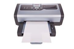 Stampante di getto di inchiostro isolata su bianco Fotografia Stock