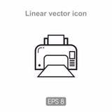 Stampante a laser dell'icona Immagine Stock