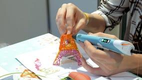 Stampante manuale della plastica 3d Fotografia Stock Libera da Diritti