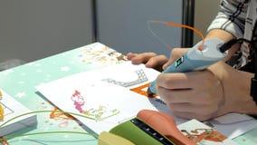 Stampante manuale della plastica 3d Fotografie Stock Libere da Diritti