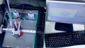 Stampante medica 3d che stampa il trapianto unito umano della parte archivi video