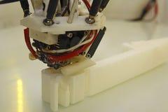 Stampante vicina della testa 3D della stampante Fotografia Stock