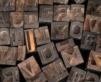 Stampatore anziano Letters Immagine Stock Libera da Diritti