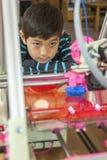 Stampatore di sorveglianza 3D intento Fotografia Stock