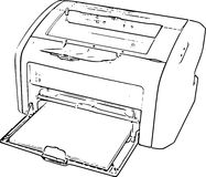Stampatore Line Art Drawing Immagine Stock