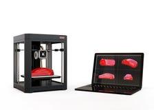 stampatrice 3D e computer portatile illustrazione di stock