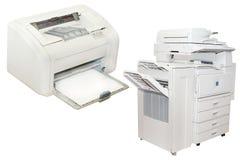 Stampatrice di getto di inchiostro e pantografo dell'ufficio Immagine Stock
