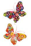 Stampe con le farfalle Immagine Stock Libera da Diritti