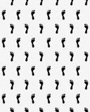 Stampe dei piedi umani Immagine Stock Libera da Diritti