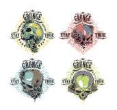 Stampe del cranio messe Fotografia Stock