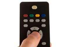 Stampe del dito su telecomando inferiore immagini stock libere da diritti