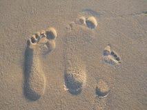 Stampe del piede Fotografia Stock Libera da Diritti
