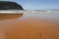 Stampe del piede della spiaggia di Rodiles Fotografia Stock Libera da Diritti