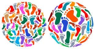 Stampe del piede umano royalty illustrazione gratis