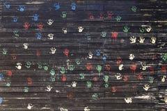 Stampe della mano del bambino Fotografia Stock