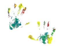 Stampe della mano su fondo bianco Fotografie Stock Libere da Diritti