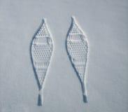 Stampe della racchetta da neve Fotografia Stock