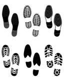 Stampe delle scarpe Fotografia Stock