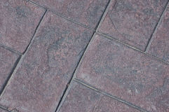 Stamped cement bricks Stock Photos