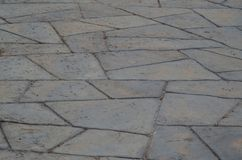 Stamped Concrete - crazy paving. Stock Photo
