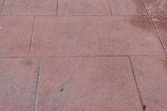 Stamped concrete floor outdoor pavements appearance of natural stone Royalty Free Stock Image