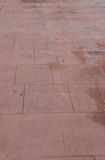 Stamped concrete floor outdoor pavements appearance of natural stone perspective Royalty Free Stock Photography