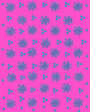 Stamped flowers and Dots Stock Photos