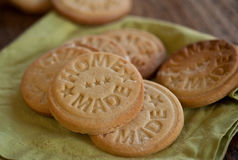 Stamped home made cookies Royalty Free Stock Photography