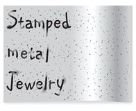 Stamped Metal Jewelry Stock Images