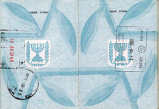 Stamped Israeli Passport Stock Images