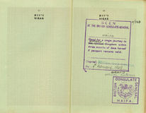 Stamped pre-Israel Passport Stock Images