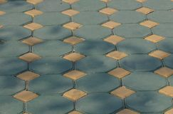 Stamped Paving- octagonal. Stock Photos