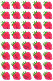 Stamped or Sponged Strawberries Pattern Royalty Free Stock Image